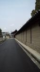 中宮寺近く